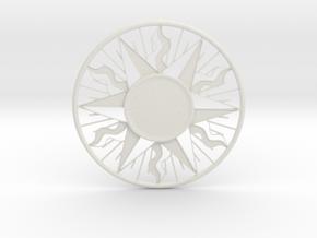 Sun Necklace in White Natural Versatile Plastic