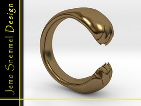 Ring Hondenpootjes Model in Polished Bronze