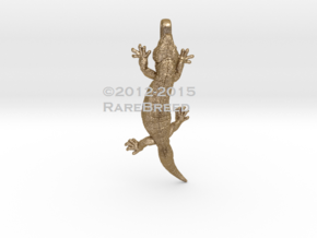 Gila Monster Charm in Polished Gold Steel
