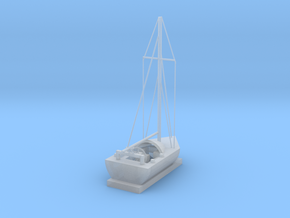 Sailing Ship in Smooth Fine Detail Plastic