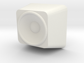 Speaker Cherry MX Keycap in White Natural Versatile Plastic