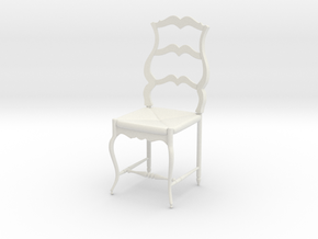 French Chair Pierre Scale 1:24 in White Strong & Flexible
