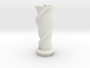"Vase 'Mini Anuya' - 5cm / 2"" in White Natural Versatile Plastic"