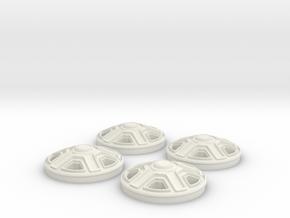 Rims(1:24 Scale) in White Natural Versatile Plastic