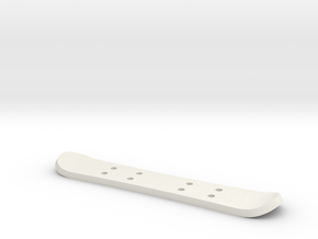 Tiny Snowboard in White Natural Versatile Plastic