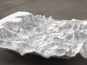 8'' Grand Canyon Terrain Model, Arizona, USA in White Strong & Flexible
