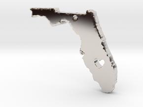 I love Florida Pendant in Rhodium Plated Brass