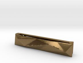 Origami Tie Clip in Natural Bronze