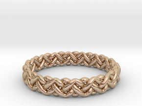 Woven Ring in 14k Rose Gold Plated Brass