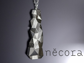 Crystalized Pendant in Polished Silver