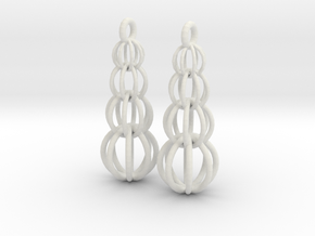 Earrings in White Natural Versatile Plastic