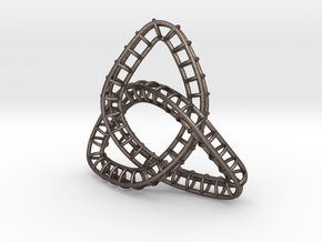 Triquetra Frame in Polished Bronzed Silver Steel