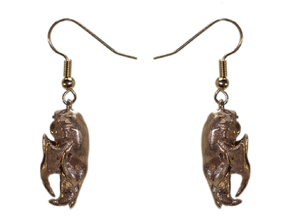 Rat Earrings (pair of 2 earrings) in Natural Bronze