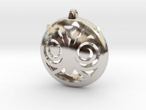 Hypno Owl Pendant in Rhodium Plated Brass