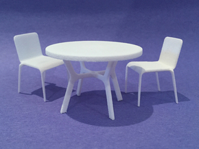 42in Dia Table 1:24 scale in White Natural Versatile Plastic