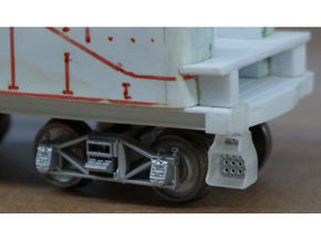 10x Southern Ry. Tender Steps - HO in Smooth Fine Detail Plastic