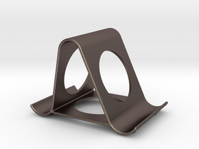 iPhone stand in Polished Bronzed Silver Steel