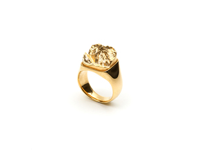 Mont Blanc Ring in 18k Gold Plated Brass