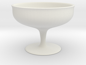 Simple Cup (7 cm height) in White Natural Versatile Plastic