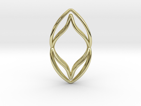 sWINGS M, Pendant. Pure Elegance. Perfect Comfort. in 18k Gold Plated Brass