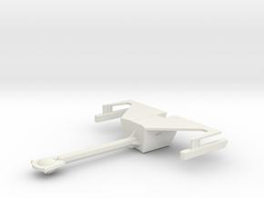 Klingon D-18 Refit in White Strong & Flexible
