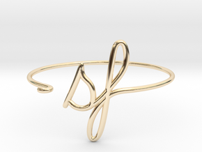 SF Wire Bracelet (San Francisco) in 14k Gold Plated Brass