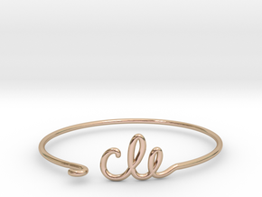 CLE Wire Bracelet (Cleveland) in 14k Rose Gold Plated Brass
