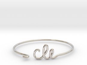 CLE Wire Bracelet (Cleveland) in Rhodium Plated Brass