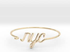 NYC Wire Bracelet (New York City) in 14k Gold Plated Brass