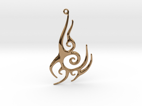 Abstract Pendant #1 in Polished Brass