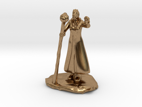Female Dragonborn Wizard in Robe with Staff in Natural Brass