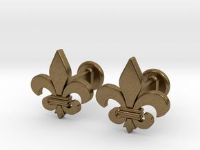 'Firenze' (fleur de lys) Cufflinks in Natural Bronze