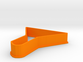 Funnel cookie cutter in Orange Strong & Flexible Polished