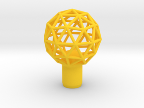 "Shift Knob Geodesic 12x1.25 2"" in Yellow Processed Versatile Plastic"