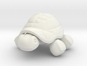 Tortoise in White Natural Versatile Plastic