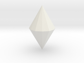 Dihexagonal dipyramid in White Natural Versatile Plastic