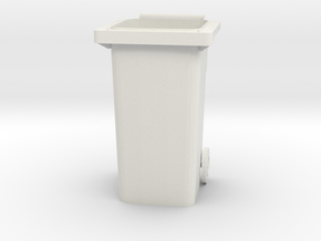 "Modern Garbage Can for 6"" figures in White Strong & Flexible"