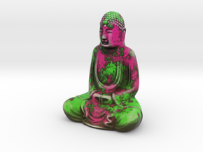 Textured Buddha: paint peel. in Full Color Sandstone