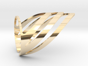 Chevron (Large) in 14k Gold Plated Brass