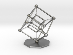 Hypercube in Natural Silver