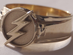 Flash Ring size 8.5 18.5mm  in Polished Brass