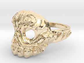 Dr.K Skull Ring-Size 9.5 in 14K Yellow Gold