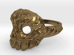 Dr.K Skull Ring-Size 9.5 in Natural Bronze