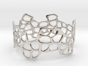 Cells Bracelet (67mm) in Rhodium Plated Brass