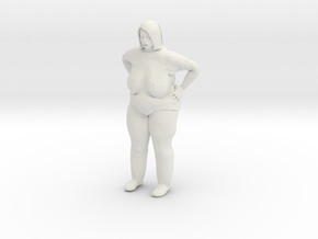Fat lady 1/20 scale in White Natural Versatile Plastic
