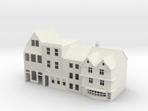 N Gauge Topsham Fore Street buildings in White Natural Versatile Plastic