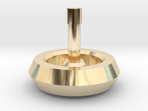 Spinning Top in 14k Gold Plated Brass