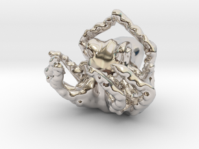 OctoPendant in Rhodium Plated Brass