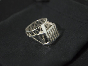 USB Ring in Polished Silver