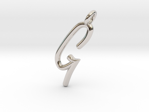 G in Rhodium Plated Brass
